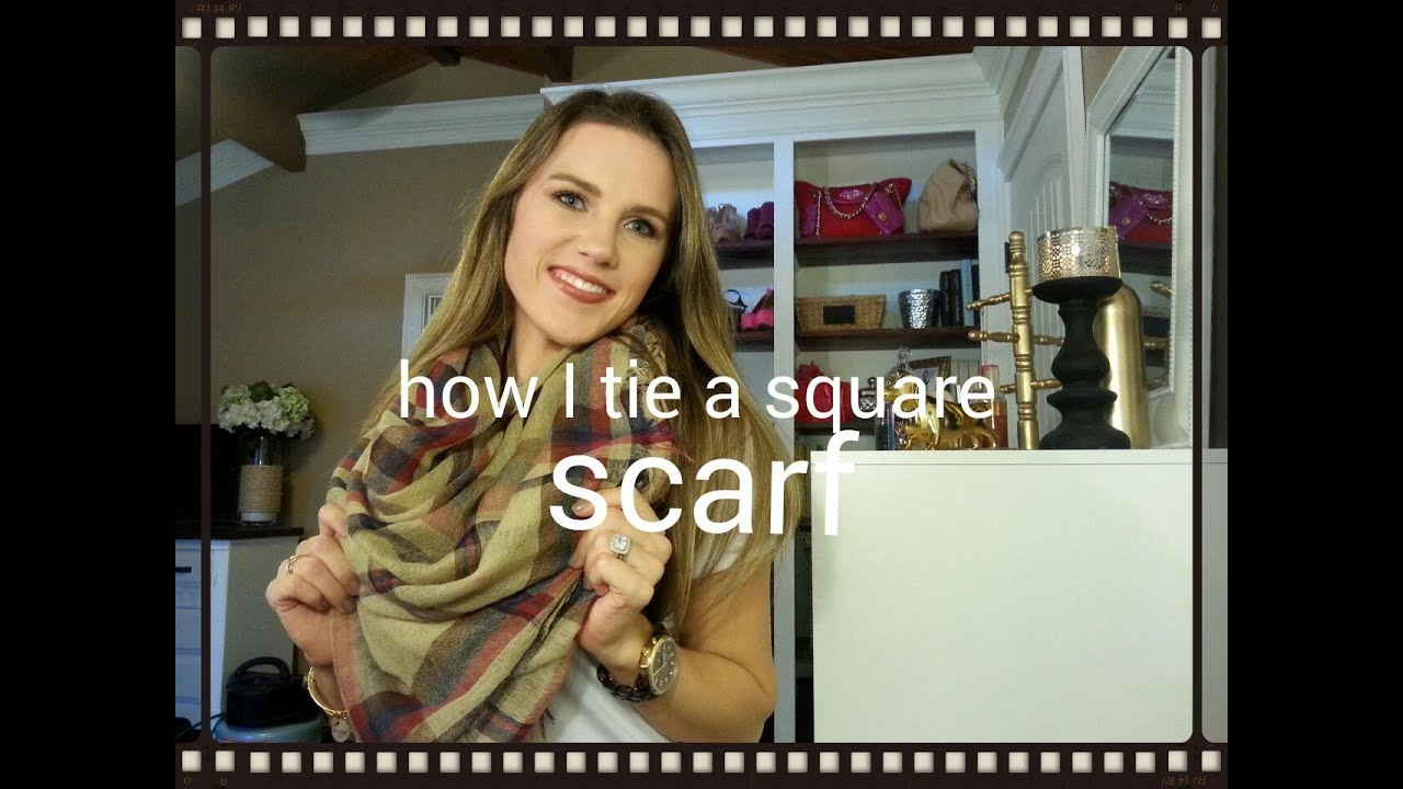 large square scarf how to wear