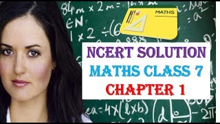 NCERT Solution Maths Class 7  CHAPTER 1 IN HINDI