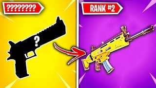 Top 10 LEGENDARY Fortnite Weapons RANKED WORST TO BEST!