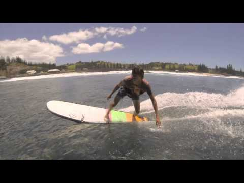 Jack Entwistle surfing Norfolk Island