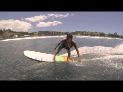 Jack Entwistle surfing Norfolk Island