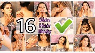 16 Hacks For  BEAUTIFUL Skin, Hair, Makeup   Teenager Affordable Hacks Super Style Tips
