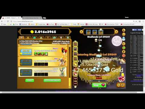 Clickers Heroes Hack - Full process for hack - Level 30000+ Save game editor