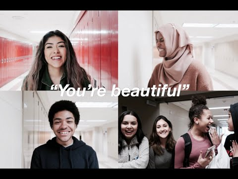 """""""You're beautiful"""" high school social experiment 
