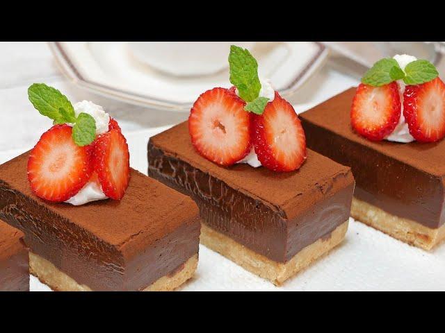 生チョコタルトの作り方  NO-BAKE Chocolate Cake (Nama-Choco Cake)