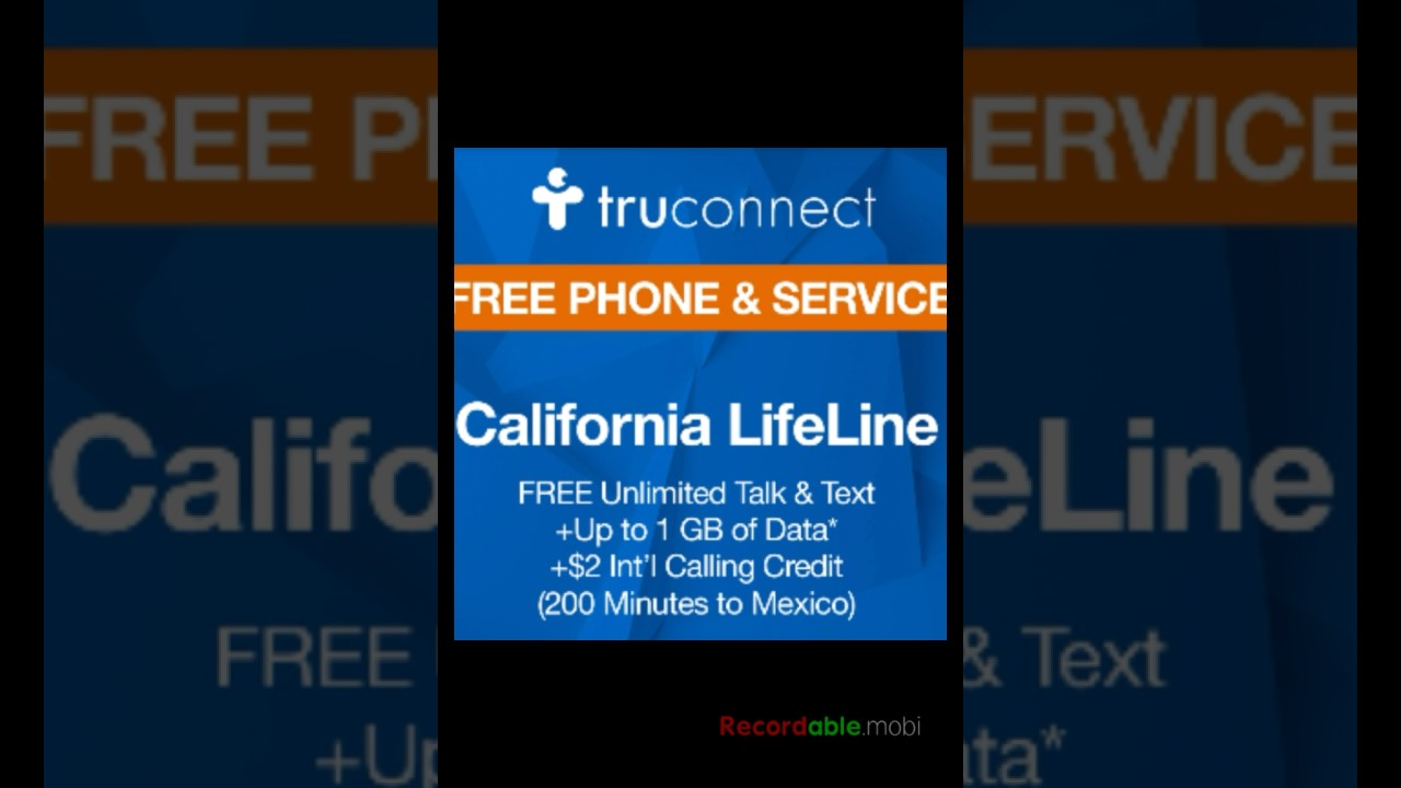 Free Government Cellphone with Truconnects lifeline unlimited plan with 3G  of Data Tmobiles Network