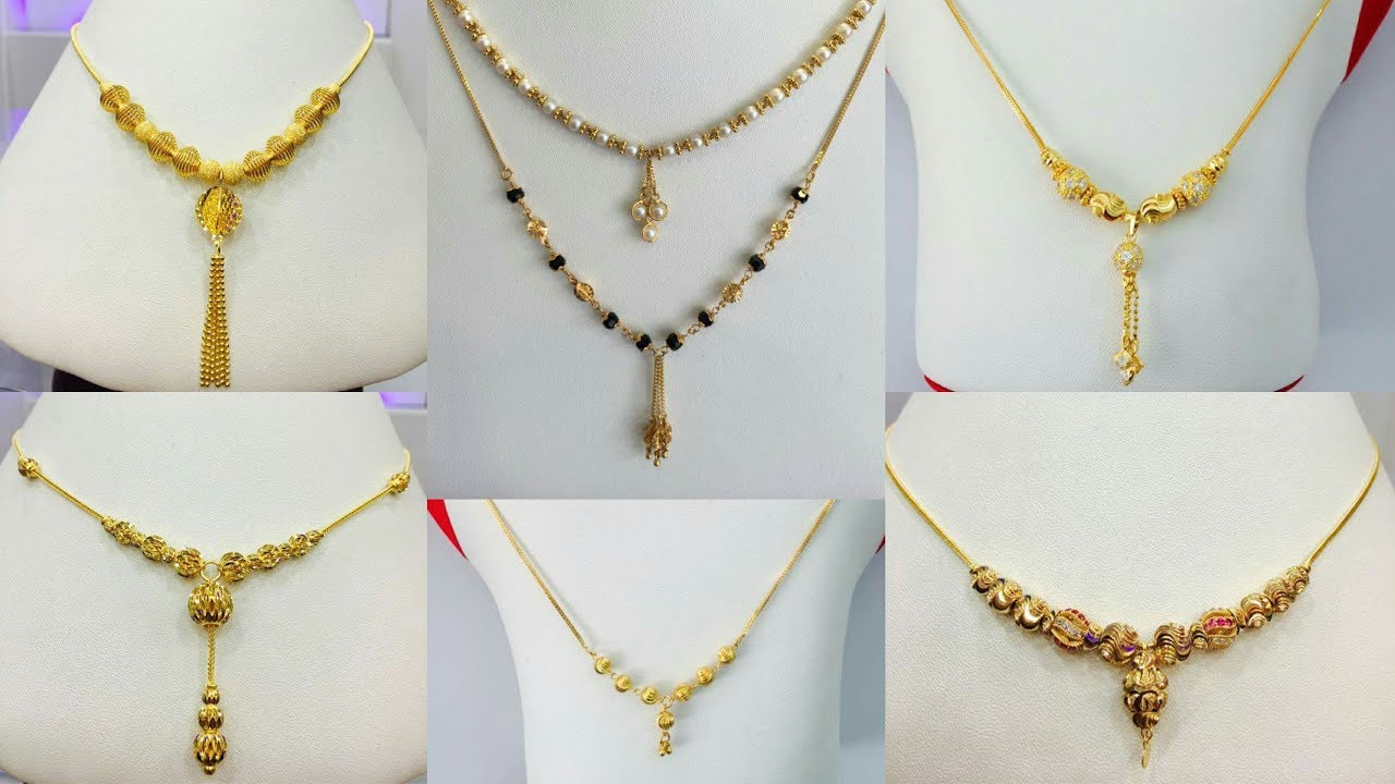 latest light weight gold chain necklaces designs for daily