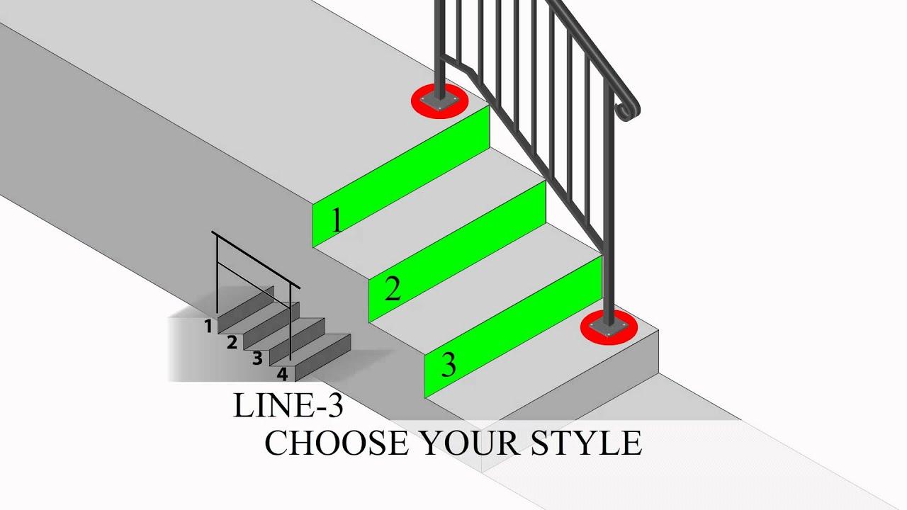 Select The Right Size Iron X Handrail Youtube | Iron X Handrail Picket