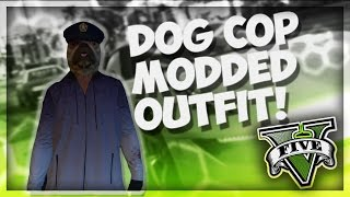 DOG COP OUTFIT*MODDED* TUTORIAL! Cool outfit to make! Grand Theft Auto 5 Online