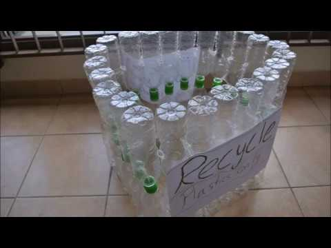recycling bin out of bottles