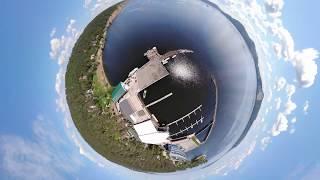 Панорамное видео с DJI Mavic Air   DJI GO4 QiuickShot Asteroid