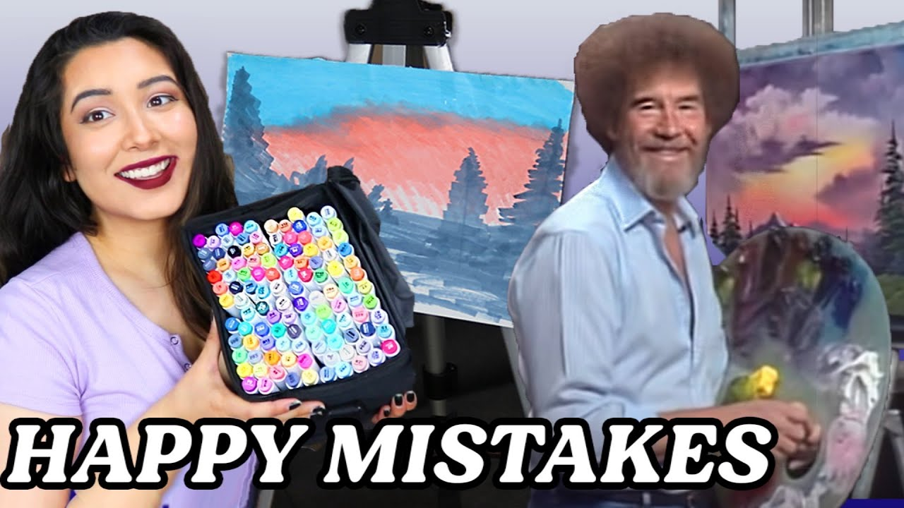 Download Following A Bob Ross Tutorial With Only Markers *i surprised myself*