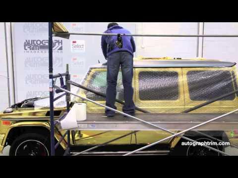 Mercedes G-63 AMG Gold Foil Viny Wrap