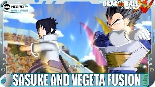 Fusion Vegeta and Sasuke Vs Fusion Goku and Naruto - Dragon Ball VS Naruto Shippuden - XV mod