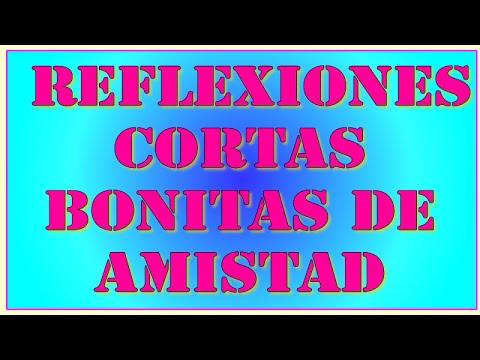 Reflexiones Cortas Bonitas De Amistad Youtube