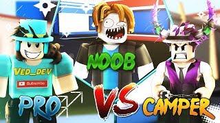 PRO vs NOOB vs CAMPER! (Roblox Jailbreak Edition)