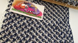 Repeat youtube video CRIS CROS STITCH WITH TWO COLORS FOR RECTANGULAR LOOM