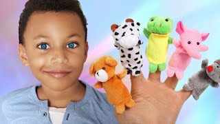 Animals Finger Family Song Part 2- Kids Songs and Nursery Rhymes by Kris and Kira