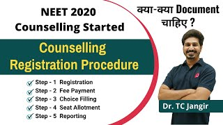 NEET Counselling 2020 - Procedure | How to register, Fee Structure, Documents For NEET Counselling