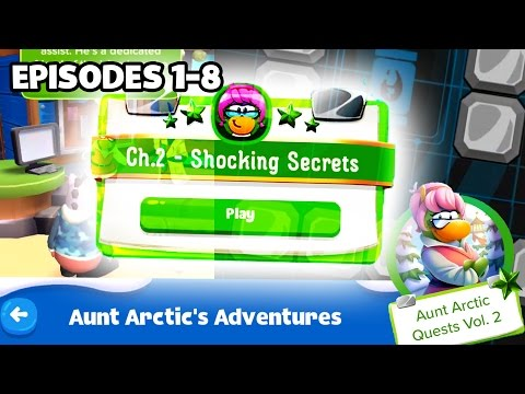Club Penguin Island - COMPLETE GUIDE | Aunt Arctic Chapter Two Episodes 1-8