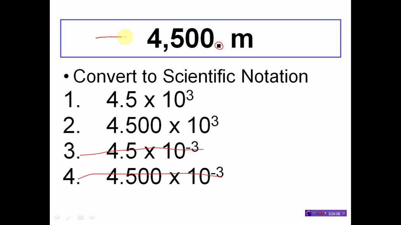 Scientific Notation Practice Conversions 3