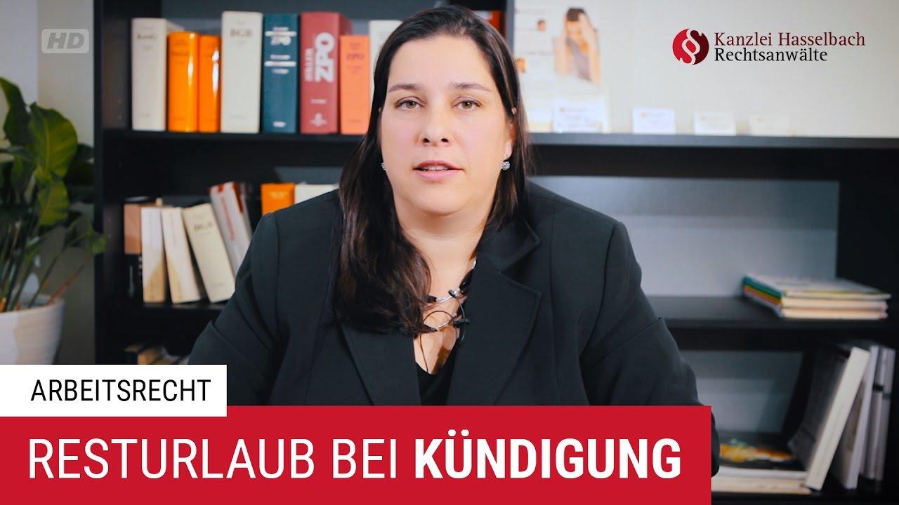 Was Passiert Mit Resturlaub Bei Kündigung Kanzlei Hasselbach