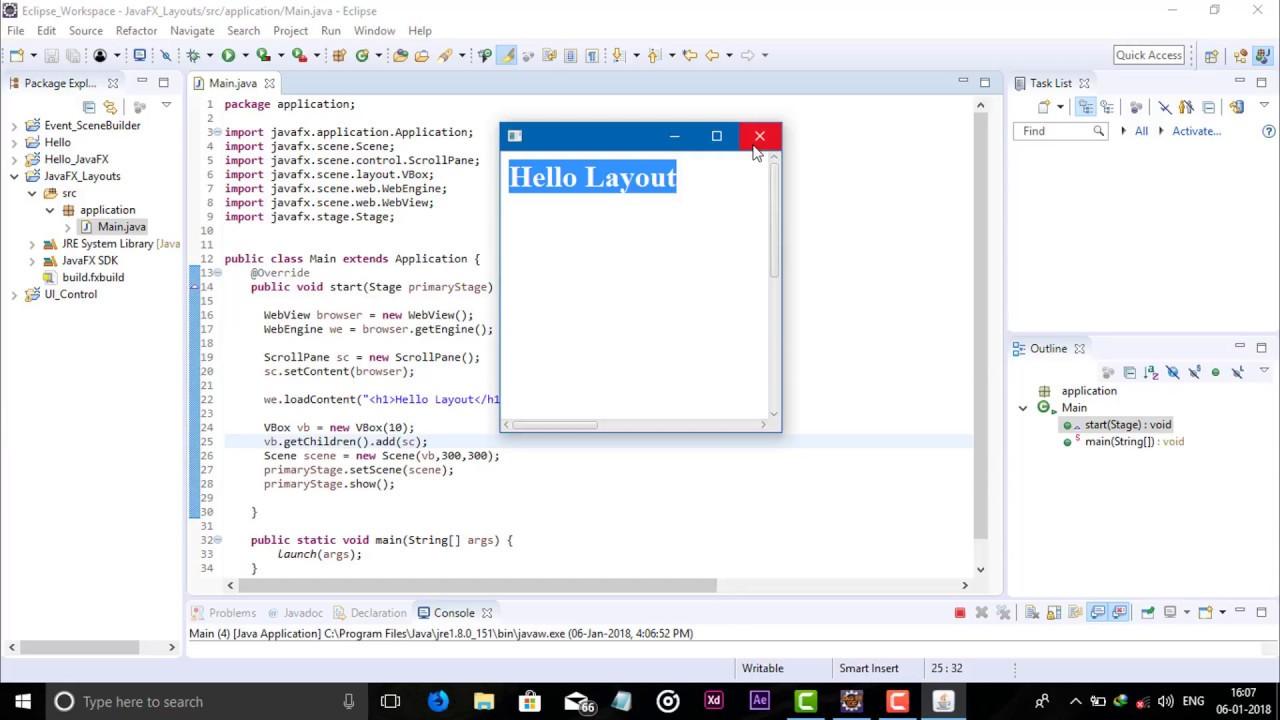 JavaFX Layout ScrollPane