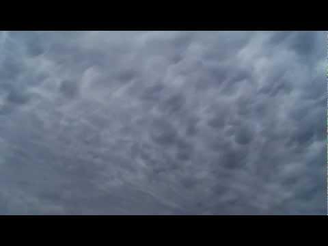 Mammatocumulus clouds in Edendale Southland