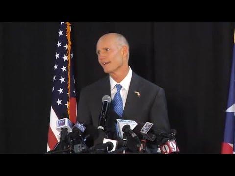 Gov Rick Scott speaks at Puerto Rico town hall