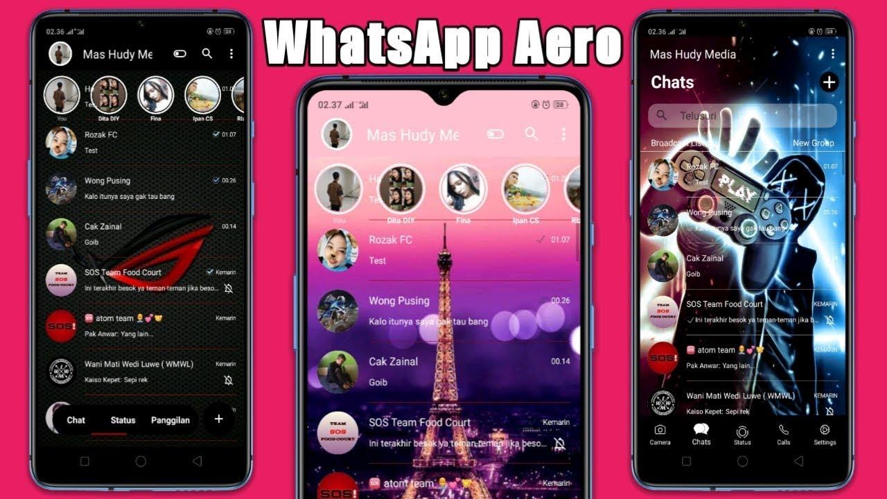 Tema WhatsApp Aero Terbaru 2020 - YouTube