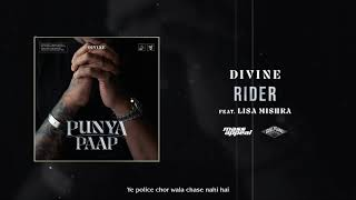 DIVINE - Rider Feat. Lisa Mishra (Official Audio)   Punya Paap