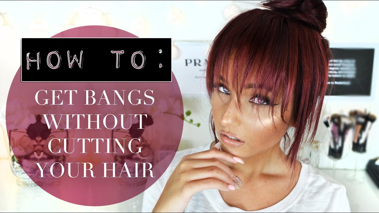 how can i style my hair without heat how to get bangs without cutting your hair easy and 7984