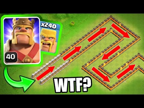 THE BARBARIAN TRAIN! - Clash Of Clans - INSANE MASS TROOP GAME PLAY!
