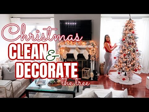 NEW!🎄 CHRISTMAS CLEAN AND DECORATE WITH ME | MODERN FARMHOUSE DECOR 2019 | CLEANING XMAS MUSIC