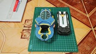 Making of Kamen Rider Gatack Zecter Papercraft