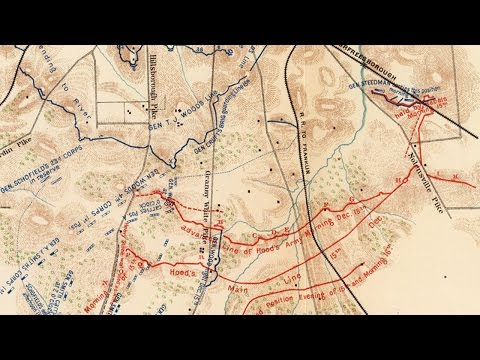 Nashville and Franklin Tennessee - Civil War Battlefield Maps