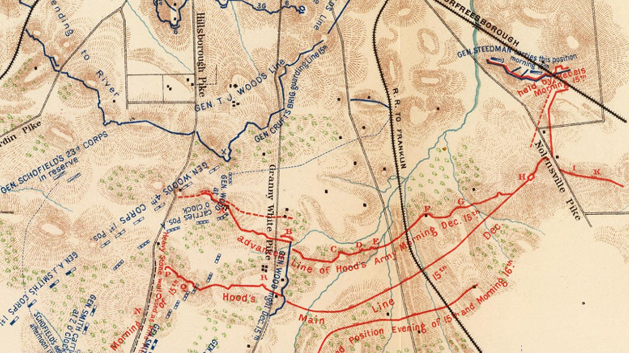 Nashville and Franklin Tennessee - Civil War Battlefield Maps - YouTube