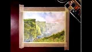 رسم منظر طبيعي بـ الألوان المائية ☼