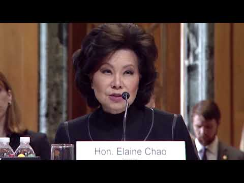 Senator Murray Questions Secretary Chao During Transportation Hearing