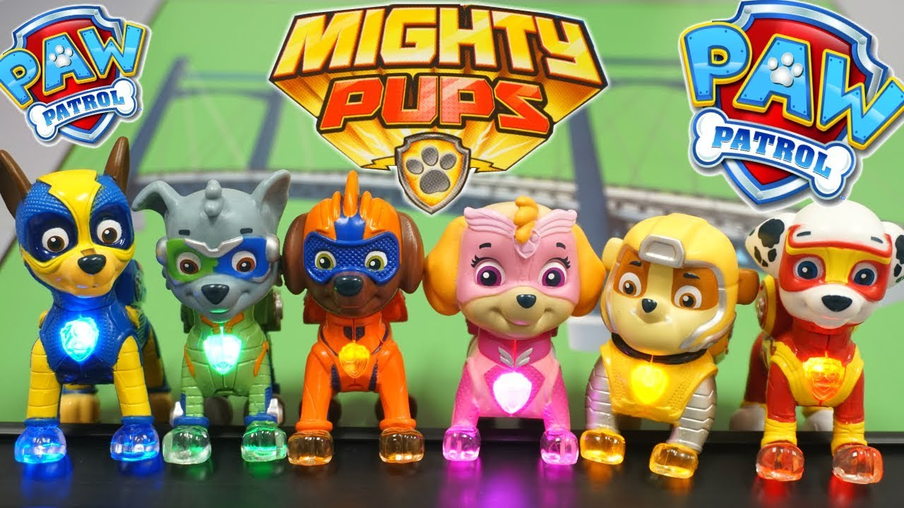 Paw Patrol Mighty Pups New Movie Light Up Superheroes In