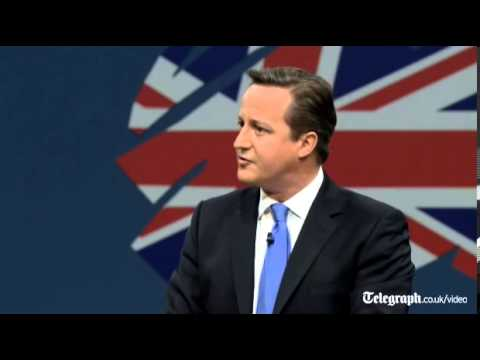 David Cameron Britain A Small Island But A Great Country