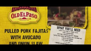 Pulled Pork Fajitas With Avocado & Onion Slaw | Andy Bates | Old El Paso