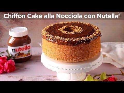 CHIFFON CAKE ALLA NOCCIOLA CON NUTELLA® Ricetta Facile - Fatto in casa da Benedetta