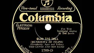 1929 HITS ARCHIVE: Glad Rag Doll - Ted Lewis