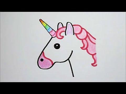 Kleurplaten En Zo Zoeken.Zo Teken Je De Eenhoorn Emoji In Stappen Youtube