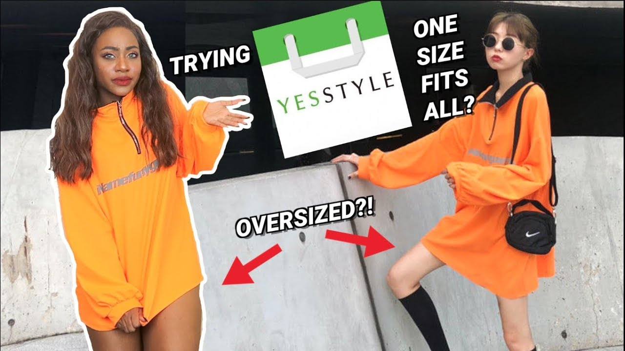 """TRYING """"ONE SIZE FITS ALL"""" On Size 8 Body Type From YesStyle"""