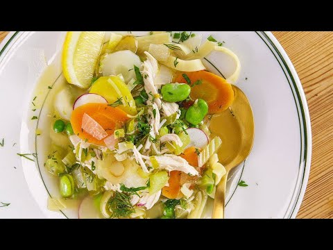Rachael's Rags of Chicken and Noodles Soup