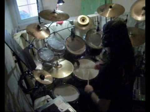 SARATOGA - No sufriré jamás por ti - cover drum by angel battery (video clip)