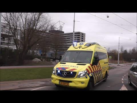 Ambulance 13-109 met Spoed naar Borgloonstraat Amsterdam Nieuw-Sloten