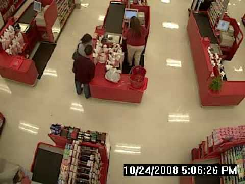 Woodland Target checkout counter